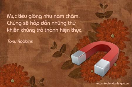 Lời hay ý đẹp, câu nói hay, Danh ngôn về mục tiêu, danh ngôn Tony Robbins