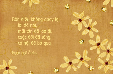 Lời hay ý đẹp, câu nói ý nghĩa, ngạn ngữ ả rập, danh ngôn lời nói, danh ngôn cuộc sống, danh ngôn cơ hội