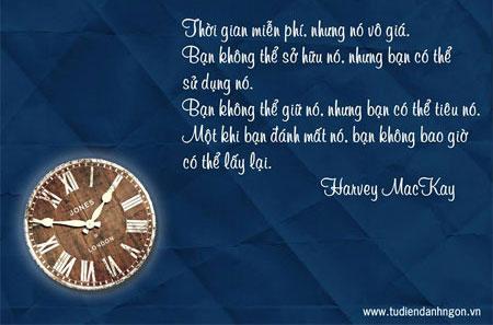 Danh ngôn về thời gian, danh ngôn Harvey MacKay