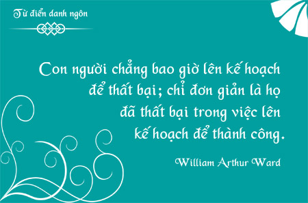 Danh ngôn về kế hoạch, danh ngôn về thành công, danh ngôn về thất bại, danh ngôn William Arthur Ward