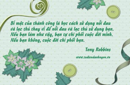 Danh nhân - Danh ngôn Tony Robbins - Bí mật của thành công là học cách sử dụng nỗi đau và lạc thú thay vì